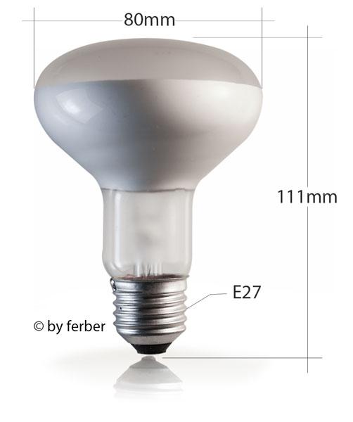 ferber shop reflektorlampe r80 60w e27 osram. Black Bedroom Furniture Sets. Home Design Ideas
