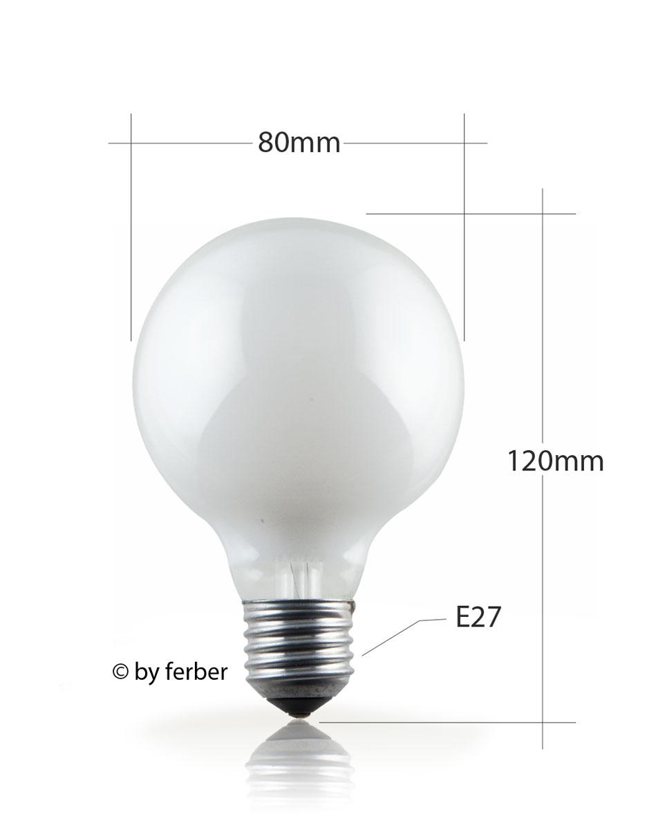 ferber-shop - Globelampe 80mm 40 Watt opal